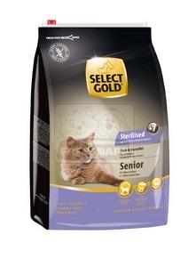 SELECT GOLD Sterilised Senior hal & burgonya szárazeledel macskáknak, 3 kg