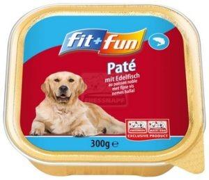 fit+fun tálkás eledel kutyáknak nemes hallal 300 g