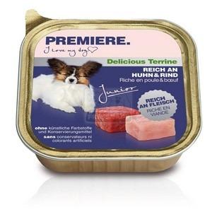 Premiere BEST MEAT terrine Junior kutya tálkás eledel csirkével és marhával 150g