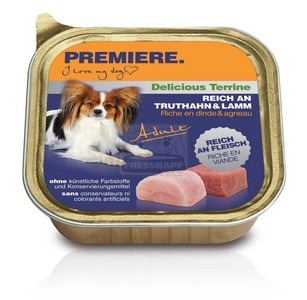 Premiere BEST MEAT terrine kutya tálkás eledel pulykával és báránnyal 150g