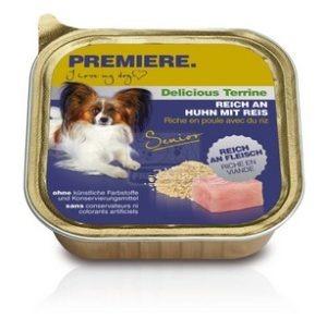 Premiere BEST MEAT terrine Senior kutya tálkás eledel csirkével és rizzsel 150g