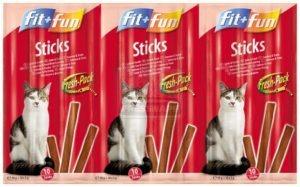 fit+fun Sticks cicáknak lazac+pisztráng 50g
