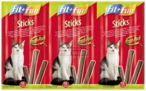 fit+fun Sticks cicáknak nyúl+pulyka 50g