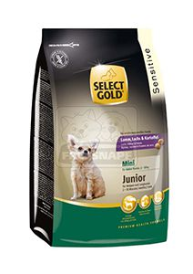 SELECT GOLD Sensitive Mini junior kutyaeledel 1kg