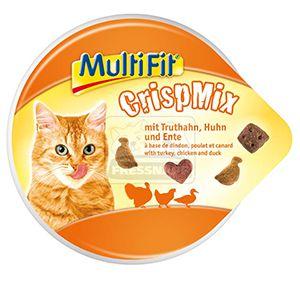 MultiFit CrispMix cicasnack pulyka+csirke+kacsa 60g