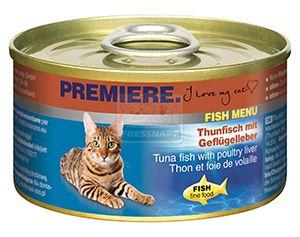 Premiere Fish Menu cicakonzerv tonhal+baromfimáj 95g