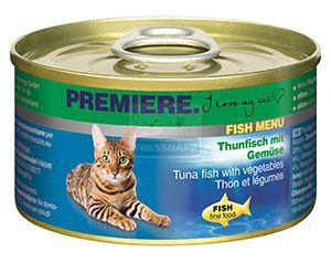 Premiere Fish Menu cicakonzerv tonhal+zöldség 95g