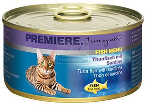 Premiere Fish Menu cicakonzerv tonhal+szardínia 185g