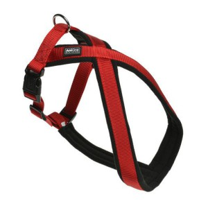 AniOne X-hám Classic nejlon piros M/55 cm