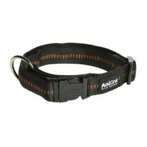 AniOne nyakörv Comfort nejlon fekete L/40-63 cm