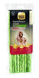 Select Gold Sensitive hipoallergén medium snack kutyáknak algával 168g