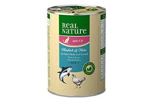 Real Nature cicakonzerv tonhal+csirke+burgonya 400g