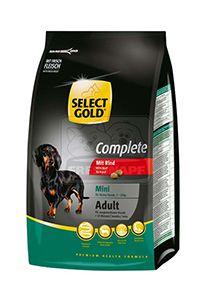 SELECT GOLD Complete Mini kutyaeledel marha 1kg