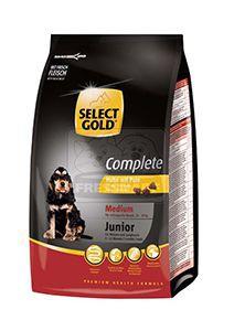 SELECT GOLD Complete Medium junior kutyaeledel csirke pulykával 12kg