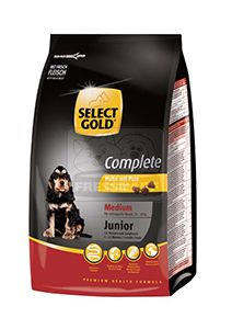 SELECT GOLD Complete Medium junior kutyaeledel csirke pulykával 12kg