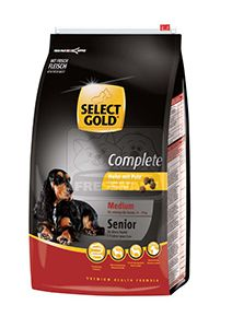 SELECT GOLD Complete Medium senior kutyaeledel csirke pulykával 12kg