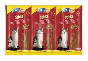 fit+fun sticks macskáknak szárnyas+máj 50g