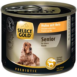 SELECT GOLD Sensitive senior kutyakonzerv csirke+rizs 200g