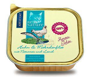 Real Nature csirke+makrélafilé barnarizzsel és lenolajjal zselében 100g