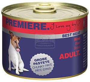 PREMIERE Best Meat kutyakonzerv marha 185g