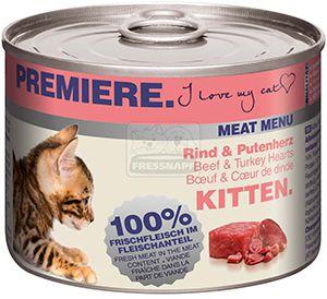 PREMIERE cicakonzerv kitten marha+pulyka 200g