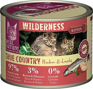 Real Nature Wilderness cicakonzerv kitten csirke+lazac 200g