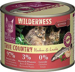 Real Nature Wilderness cicakonzerv kitten csirke+lazac 200g