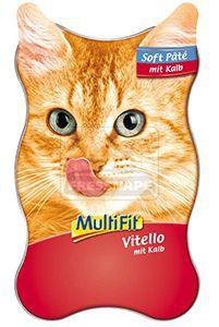 MultiFit Soft-Paté tálkás cicaeledel borjú 85g