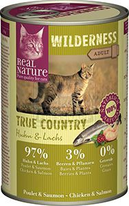 Real Nature Wilderness cicakonzerv csirke+lazac 400g