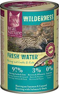 Real Nature Wilderness cicakonzerv hering+lazac+kacsa 400g