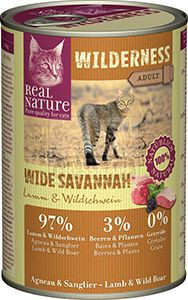 Real Nature Wilderness cicakonzerv bárány+vaddisznó 400g