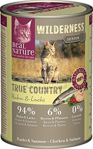 Real Nature Wilderness cicakonzerv senior csirke+lazac 400g