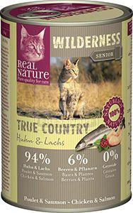Real Nature Wilderness cicakonzerv senior csirke+lazac 400g