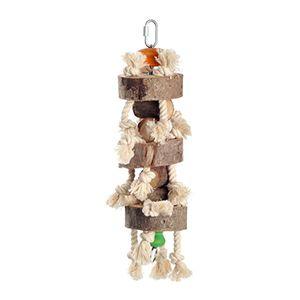 fit+fun madárjáték fadarab kötéllel 42cm