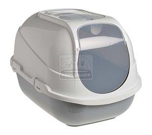AniOne cica wc Mega Comfy szürke 66x50x46cm