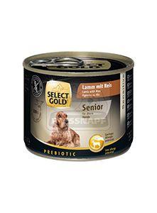 SELECT GOLD senior kutyakonzerv bárány+rizs 200g