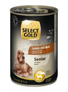 SELECT GOLD senior kutyakonzerv bárány+rizs 400g