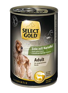 SELECT GOLD kutyakonzerv kacsa+burgonya 400g