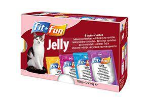 fit+fun multipack cica tasakos eledel zselés 12x100g