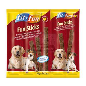 fit+fun Fun sticks falatok kutyáknak csirke 55g