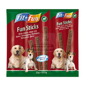 fit+fun Fun sticks falatok kutyáknak vad 55g