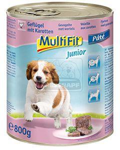 MultiFit junior kutyakonzerv szárnyas+répa 800g