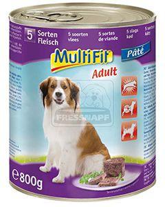 MultiFit kutyakonzerv 5féle hússal 800g