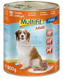MultiFit kutyakonzerv 5féle szárnyassal 800g