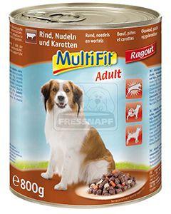MultiFit kutyakonzerv marha+zöldség+tészta 800g