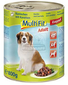 MultiFit kutyakonzerv ragu nyúl+répa 800g