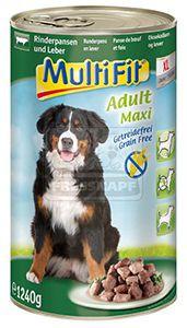 MultiFit kutyakonzerv ragu marhapacal+máj 1240g