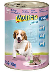 MultiFit junior kutyakonzerv szárnyas+répa 400g