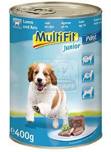 MultiFit junior kutyakonzerv bárány+rizs 400g