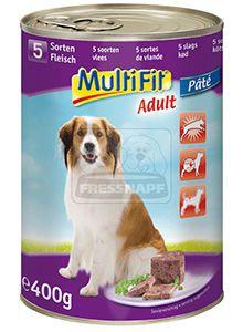 MultiFit kutyakonzerv 5féle hússal 400g